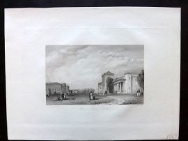 After Vickers 1834 Antique Print. Opera Place, Berlin, Germany